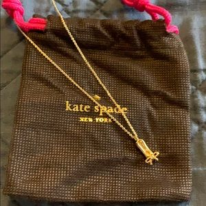 Kate Spade ballet slipper necklace